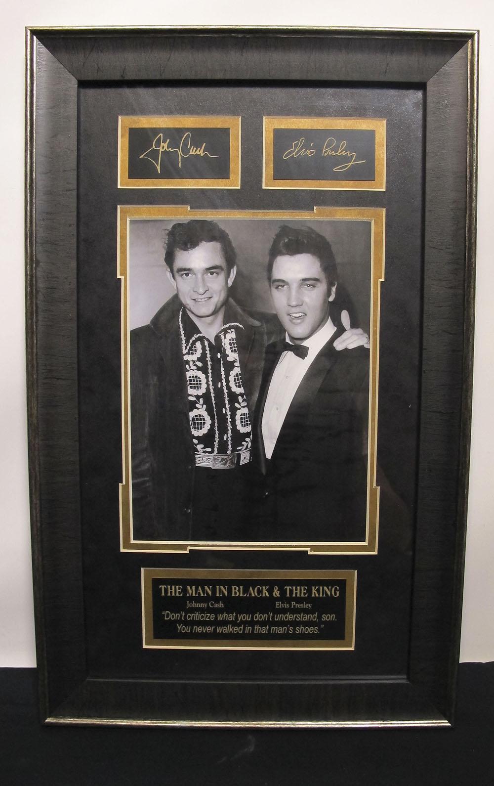 Mid Century 1956 Musicians Elvis Presley Amp Johnny Cash B Amp W